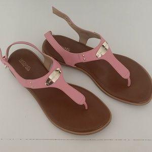 MK pink sandals